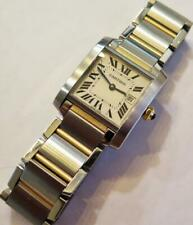 Cartier Tank Francaise 2465 Two Tone 18k Gold & S/S Mid Size 25mm