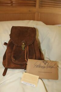 Patricia Nash Casape Backpack Burnished Suede Cognac with Dustbag