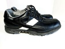 New listing Men's Etonic Golf Shoes Gore-Tex Size 9 Black Leather Waterproof w/ Soft Spikes