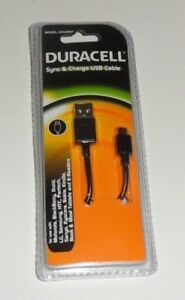 Duracell Sync & Charge USB Cable Model GDU9567 Use With Samsung & Most Phones