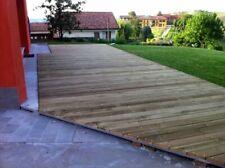 Pavimento esterno in legno cm. 2,8 x 14,5 decking antiscivolo parquet esterno