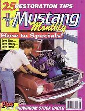 Mustang Monthly June 1989 Resto Tips 71 Boss 351 67 GT-500 69 Boss 302 87 LX