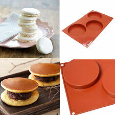 New Silicone Round Christmas Fairy Cake Mold Pan Baking Pie Tart Mould 3-Cavity