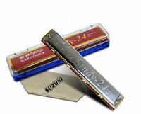 Mundharmonika Suzuki Study-24 Tremolo 24 A Schlüssel der Marke A 24 Holes Japan