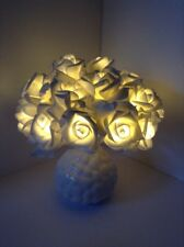 Artificial Silk Flower Arrangement Silver Light Up White Rose Flowers In Vase