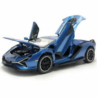1:32 2019 Lamborghini Sian FKP 37 Die Cast Modellauto Spielzeug Blau Geschenk