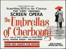 Les PARAPLUIES DE CHERBOURG UMBRELLAS OF British Quad movie poster 30x40 DENEUVE