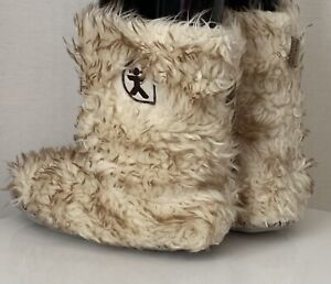 Bedroom Athletic Women's Indoor Slippers Faux Fur Fluffy Slipper Boots Size 5-6