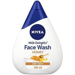 NIVEA Women Face Wash for Dry Skin, Milk Delights Honey 100 ml