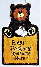 Bear Bottoms Sign Rustic Country Bath Bathroom Decor Wall Plaque Camp Camper
