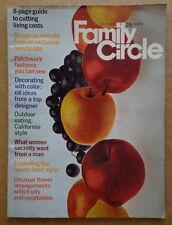FAMILY CIRCLE magazine July 1971 FRUIT DESSERT Recipe-WRIGLEY'S GUM ad-PATCHWORK