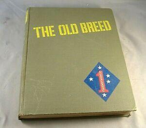 The Old Breed 1949 1st Edition Hardback Marines World War II Vintage George Mac