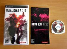 Metal Gear Acid (Sony PSP) - Complete Tested Playstation Portable Ac!d Fast Ship