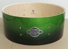 "NEW Sonor Essential Force 5 1/2"" x 14"" Birch Snare Drum, Green Fade Lacquer"