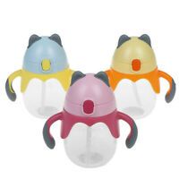 Cartoon Baby Cup Kids Boys Girls Feeding Drinking Straw Cup Suction Cups Durable