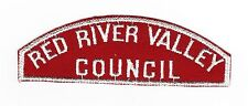BOY SCOUT  RED RIVER VALLEY  /  COUNCIL  RWS  (WIDE LETTERS- E = 6MM ) RATED#10