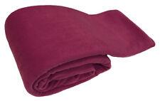 Maroon Luxury Warm Soft Large 180cm X 254cm Fleece Sofa Couch Bed Blanket Throw
