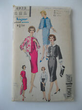 VTG Vogue Special Design Pattern Dress, Jacket, Skirt  #4973  Size 14/Bust 34