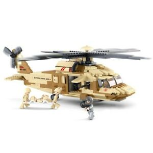 439pcs Army Aircraft Military Helicopter Legoed Building Blocks Toys Set