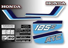 ATC 185s Honda Stickers Set Warning Advice Vintage Trike 1983 Sticker/Decals
