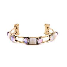 B426 Forever 21 Vintage Moon Stone Pink Gemstone Crystal Bangle Bracelet US