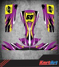 2013 Tonykart EVK Style Complet Kart Sticker Kit to fit M4-Karting-jakedesigns