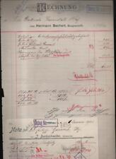 (a61341)   1901 Rechnung Hermann Bechert  Hof an das städt. Gaswerk in Hof