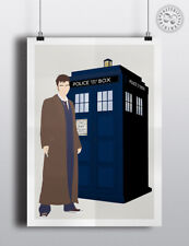 10th DOCTOR WHO - Minimalist Poster Minimal Print Posteritty David Tennant Art