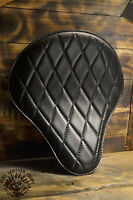 Motorcycle Solo Bobber Seat L Chopper Custom Softail Harley Leather handmade