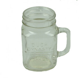 Duck Dynasty A&E Mason Jar Cup Clear Handle TV Show Drink Beverages Glass