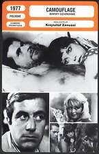 CAMOUFLAGE - K.Zanussi (Fiche Cinéma) 1977 - Barwy ochronne