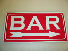 BAR Sign 4 Pool Hall Casino Game Room golf course club