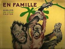 "MARGUERITE REYNIER ""EN FAMILLE"" 1933 ROJANKOVSKY ILLUST. ""PERE CASTOR"" BOOK"