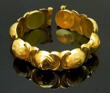 """VINTAGE RARE SYRIAN ALEPPO GOLD BRACELET 22K YELLOW GOLD HAND MADE 38.6grams 8"""""""