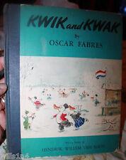 Vintage Original KWIK & KWAK Oscar Fabres First Edition Publishing Book 1942 WW2