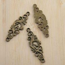 10pcs antiqued bronze flower pendant/link G1515