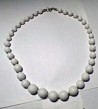 """Gorgeous White Bead 8"""" Necklace"""