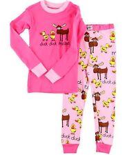 Lazy One Girls PJ Pajamas Sleepwear DUCK DUCK MOOSE Pink SIZE 10