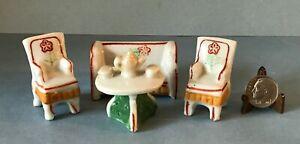 VTG Miniature 1:24 Art Deco Half Scale Occupied Japan Ceramic Living Room Set