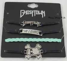 New Ghost Town Revolution Band Cord Bracelet Set 4 Pack Arm Party Logo Charms