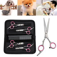 """Set of Professional 6"""" Pet Grooming Scissors Dog Hair Cutting Curved Shears Tool"""