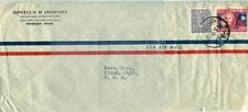1932 Shanghai China Cover to Piqua Oh Usa on Business Corner Card Envelope