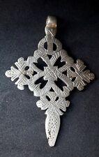 LARGE Ethiopian Neck Cross Pendant Coptic Orthodox  Christian Handmade,Ethiopia