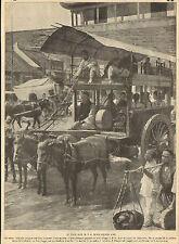 CHINE CHINA TAXI CAB ARTICLE PRESSE DE DAUTREMER 1910