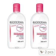 2 PCS Bioderma Crealine H2O Non-Rinse Cleanser Solution 500ml x2= 1000ml #1529_2