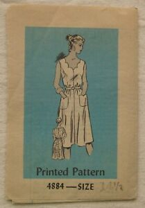Vintage Dress Sewing Pattern*Size 14.5*Cut/Complete*Mail Order*retro 60s*half sz