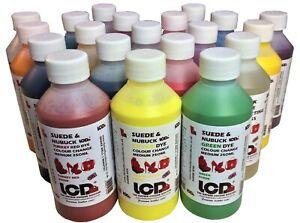 Suede Dye Nubuck shoe boot Dye, handbag gloves Vibrant colour choice & sizes
