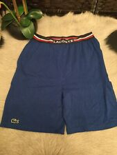 Lacoste Mens Sleepwear Short: Size S: Blue (144)