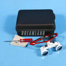 Dental Loupes Surgical Binocular Loupe 3.5x420mm Magnifying Glasses Red-SALE