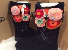 New in box UGG Crochet Classic Black BOOTS, size 8 women's $225